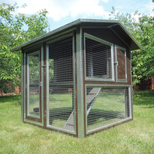 Утепленный домик с выгулом Мечта (Курятник) на 10-15 кур