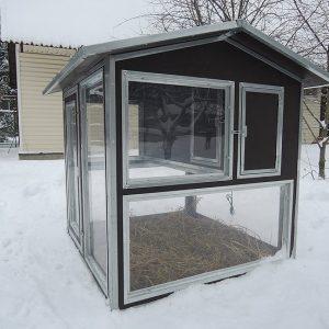 """Фото 27 - Утеплённый домик-курятник с выгулом """"Зимняя мечта"""" на 10 кур."""