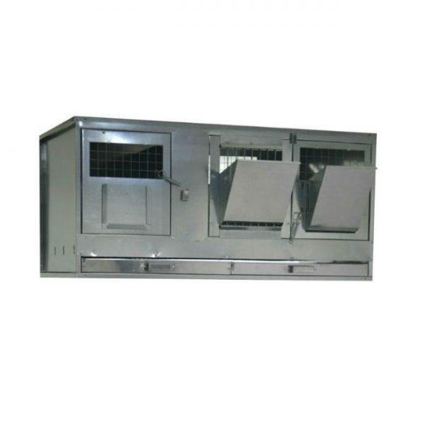 Фото 1 - Клетка для кроликов с маточным отделением Профессионал 95-КМ-1 Премиум.