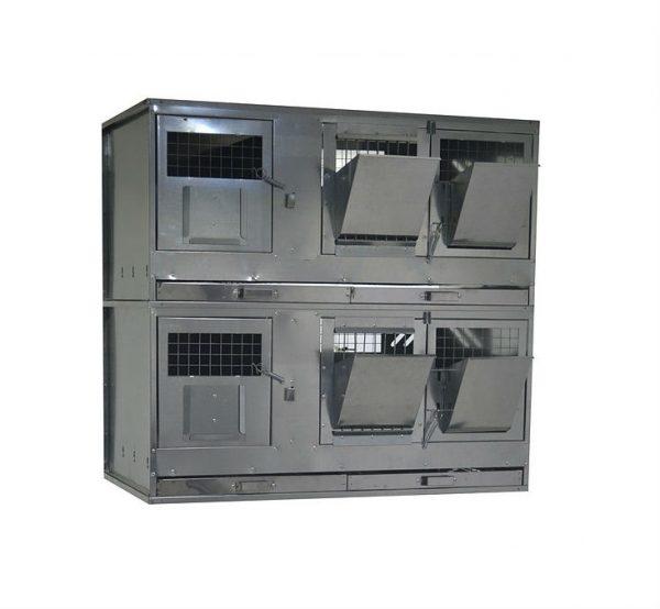 Фото 1 - Клетка для кроликов с маточным отделением Профессионал 95-КМ-2 Премиум.