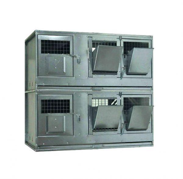 Фото 1 - Клетка для кроликов с маточным отделением Профессионал 95-КМ-2 Стандарт.