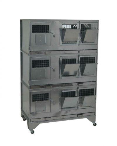 Фото 7 - Клетка для кроликов с маточным отделением Профессионал 95-КМ-3 Премиум.