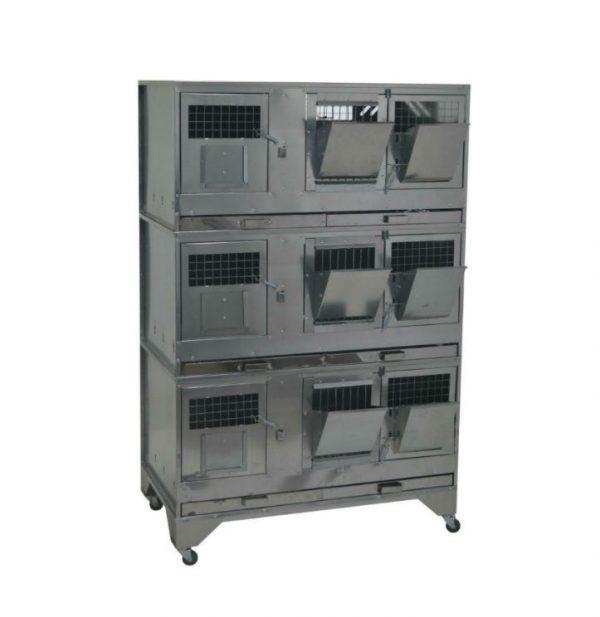 Фото 1 - Клетка для кроликов с маточным отделением Профессионал 95-КМ-3 Престиж.