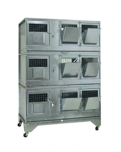 Фото 13 - Клетка для кроликов с маточным отделением Профессионал 95-КМ-3 Стандарт.