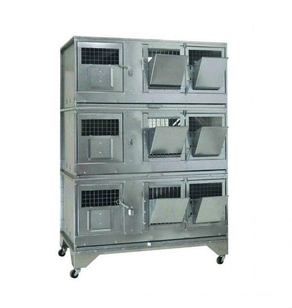 Фото 1 - Клетка для кроликов с маточным отделением Профессионал 95-КМ-3 Стандарт.