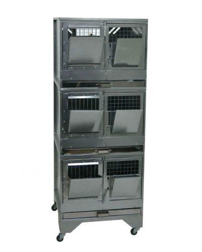 Фото 2 - Клетка для откорма кроликов Профессионал 55-КO-3 Премиум.