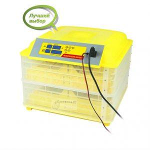 Инкубатор на 112 яиц с автономным питанием, автоматическим поворотом, терморегулятором и гигрометром